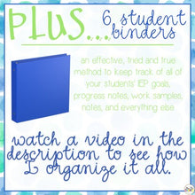 Load image into Gallery viewer, The Ultimate Special Education Binder | Blue Watercolor [editable] IEP Binder