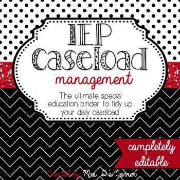 The Ultimate Special Education Binder | Black White Red {editable} IEP Binder
