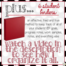Load image into Gallery viewer, The Ultimate Special Education Binder | Black White Red {editable} IEP Binder