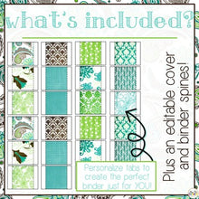 Load image into Gallery viewer, The Ultimate Special Education Binder|- Teal Mosaic [editable] IEP Binder
