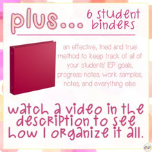 Load image into Gallery viewer, The Ultimate Special Education Binder | Pink Watercolor [editable] IEP Binder