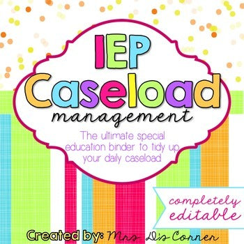The Ultimate Special Education Binder | Confetti Brights [editable] IEP Binder