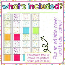 Load image into Gallery viewer, The Ultimate Special Education Binder | Confetti Brights [editable] IEP Binder