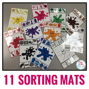 Basic Colors Sorting Mats - 11 mats!