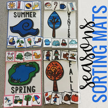Load image into Gallery viewer, Seasons Sorting Mats [4 mats!] for Students with Special Needs