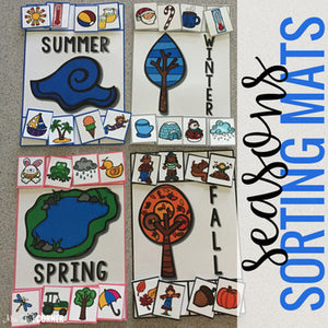 Seasons Sorting Mats [4 mats!] for Students with Special Needs