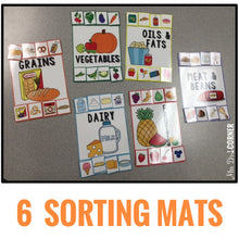Load image into Gallery viewer, Food Pyramid Sorting Mats [6 mats!] for Students with Special Needs