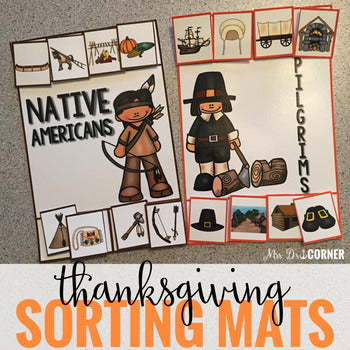 Thanksgiving Sorting Mats [2 mats!] for Students with Special Needs