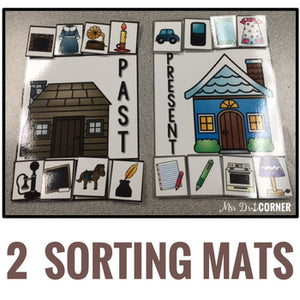Past and Present Sorting Mats [2 mats!] for Students with Special Needs