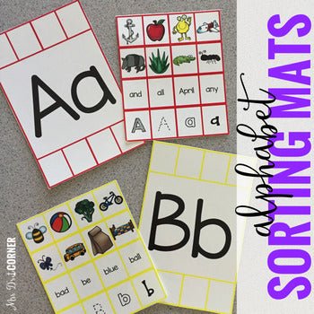 Alphabet Sorting Mats [26 mats / 386 pieces] for Students with Special Needs