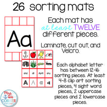 Load image into Gallery viewer, Alphabet Sorting Mats [26 mats / 386 pieces] for Students with Special Needs