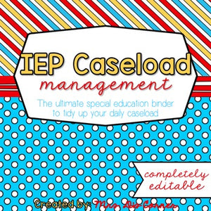 The Ultimate Special Education Binder | Red Blue Yellow [editable] IEP Binder