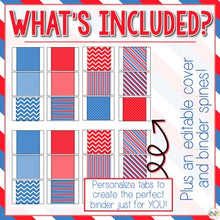 Load image into Gallery viewer, The Ultimate Special Education Binder | Red White Blue [editable] IEP Binder