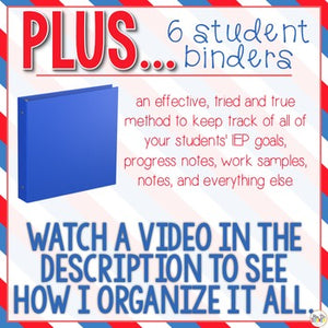The Ultimate Special Education Binder | Red White Blue [editable] IEP Binder
