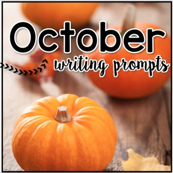 October Photo Writing Prompt Task Cards | Writing Prompts for October