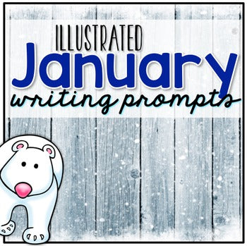 January Photo Writing Prompt Task Cards | Writing Prompts for January