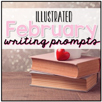 February Photo Writing Prompt Task Cards | Writing Prompts for February