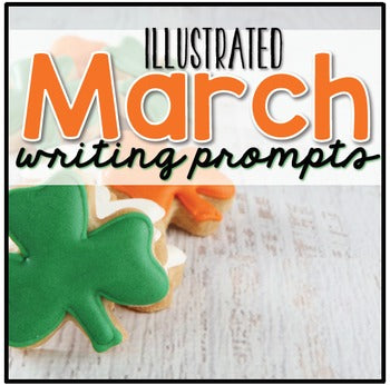 March Photo Writing Prompt Task Cards | Writing Prompts for March