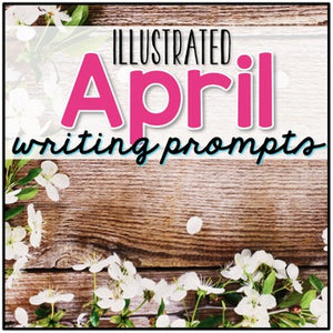 April Photo Writing Prompt Task Cards | Writing Prompts for April