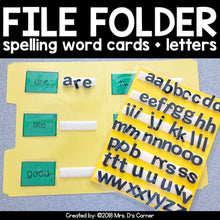 Load image into Gallery viewer, File Folder Spelling for K-3 {1,200+ sight words included!}