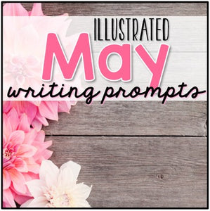 May Photo Writing Prompt Task Cards | Writing Prompts for May