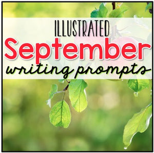September Photo Writing Prompt Task Cards | Writing Prompts for September