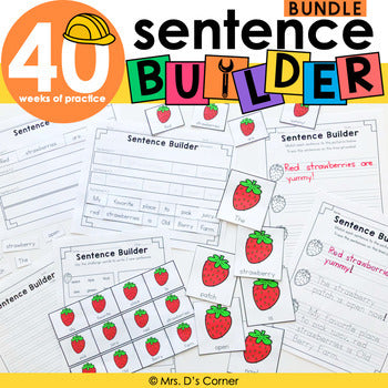 Sentence Builder Bundle | Special Education Writing Bundle