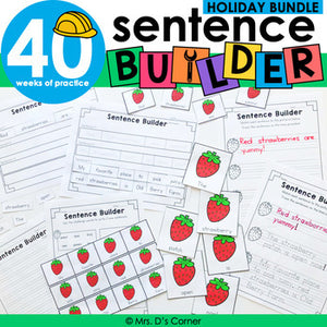 Holiday Sentence Builder Bundle | Special Education Writing Bundle