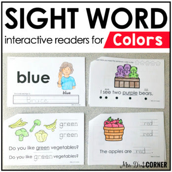 Colors Interactive Sight Word Reader Bundle | Color Activity Books