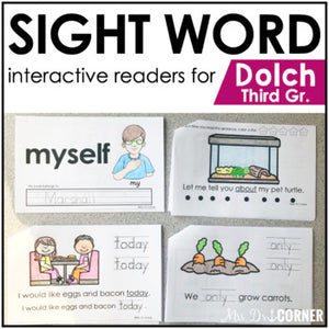 Third Grade Dolch Sight Word Books | Printable Dolch Sight Word Readers