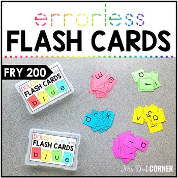 Fry 200 Errorless Flash Cards | Spelling Task Box for Fry Words | Fry 100-200