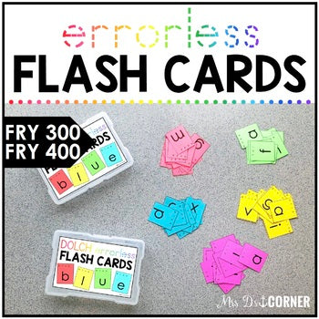 Fry 400 Errorless Flash Cards | Spelling Task Box for Fry Words | Fry 300 - 400