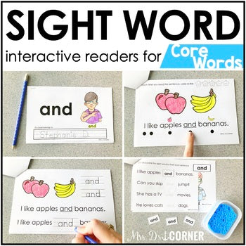 Core Vocab Interactive Sight Word Reader Bundle | Core Vocabulary Books