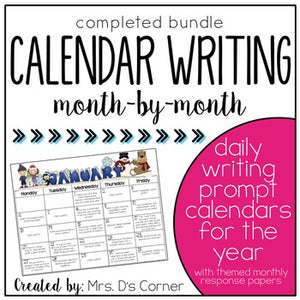Writing Through the Year { Calendar Writing Prompts } for Creative Writing