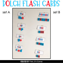 Load image into Gallery viewer, Magnetic Letter Dolch Flash Cards | Printable Dolch Flash Cards