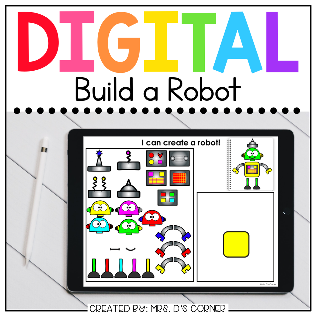 Digital Build a Robot | Digital Activities for Special Ed + Distance Learning