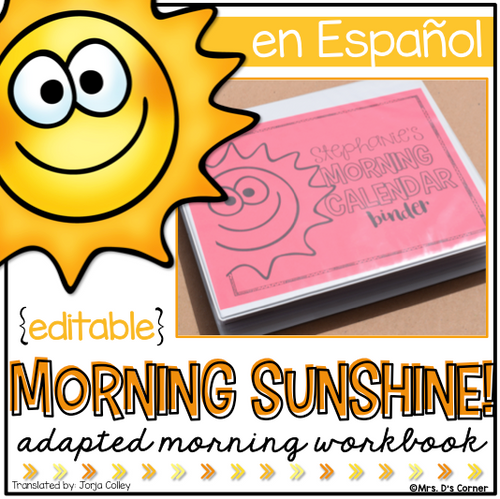 Spanish Morning Adapted Work Binder