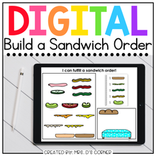 Load image into Gallery viewer, Digital Build a Sandwich | Digital Activities for Special Ed + Distance Learning