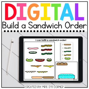 Digital Build a Sandwich | Digital Activities for Special Ed + Distance Learning