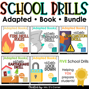 Editable School Drills Adapted Book Bundle [ 5 Sets Included! ]