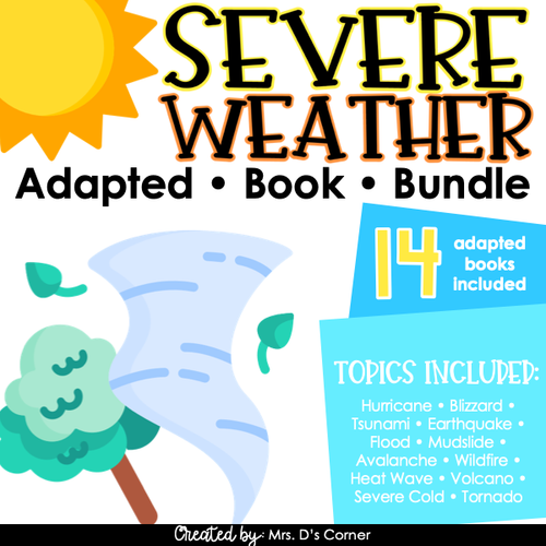 Severe Weather Adapted Book Bundle - 14 books total [ 2 Levels Per! ]
