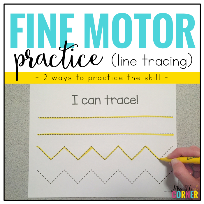 Fine Motor Skills Practice (Tracing Lines) | Distance Learning