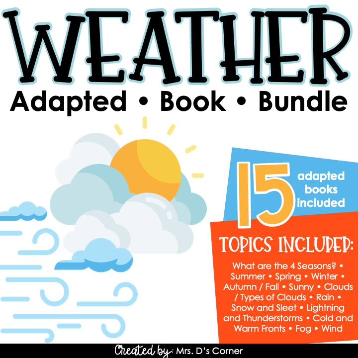 Types of Weather Adapted Book Bundle [Level 1 and 2] Weather Books