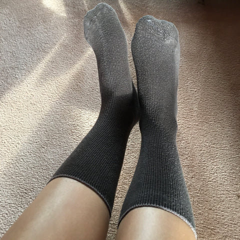 Nia's Long Brown Socks