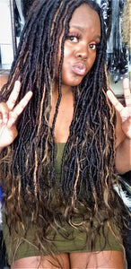 "24"" QB Hand Made Goddess Locs (1B) - 4 Pack Bundle"