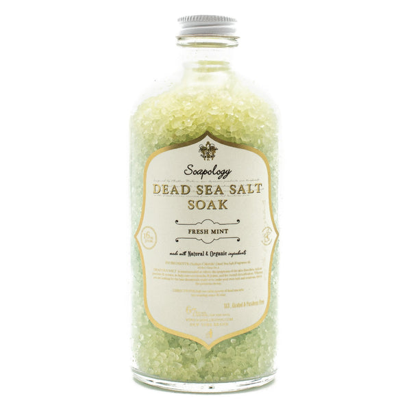 Dead Sea Salt Soak <br> Fresh Mint - SoapologyNYC