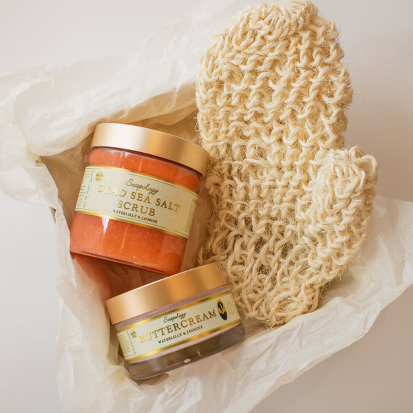 Glowing Body Scrub Set - SoapologyNYC