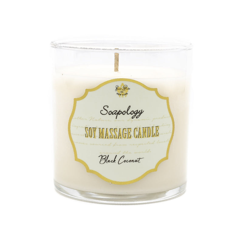 Soy Massage Candle <br> Black Coconut - SoapologyNYC CANDLES