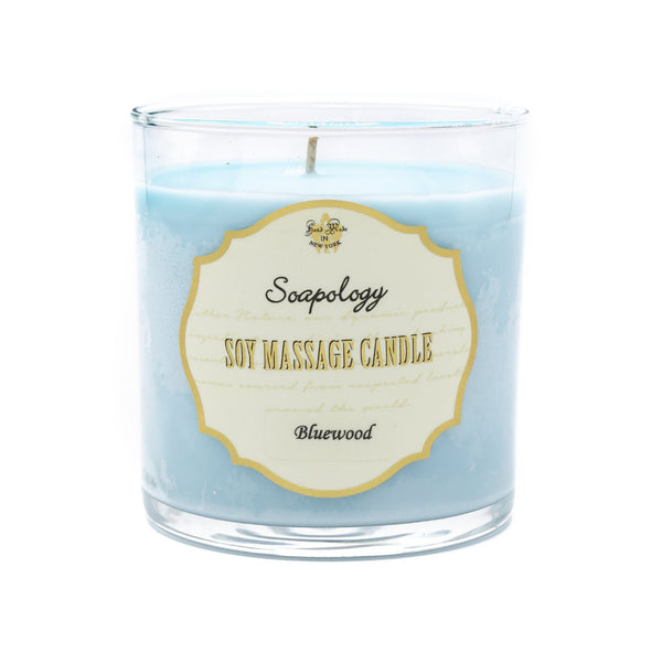 Soy Massage Candle <br> Bluewood - SoapologyNYC