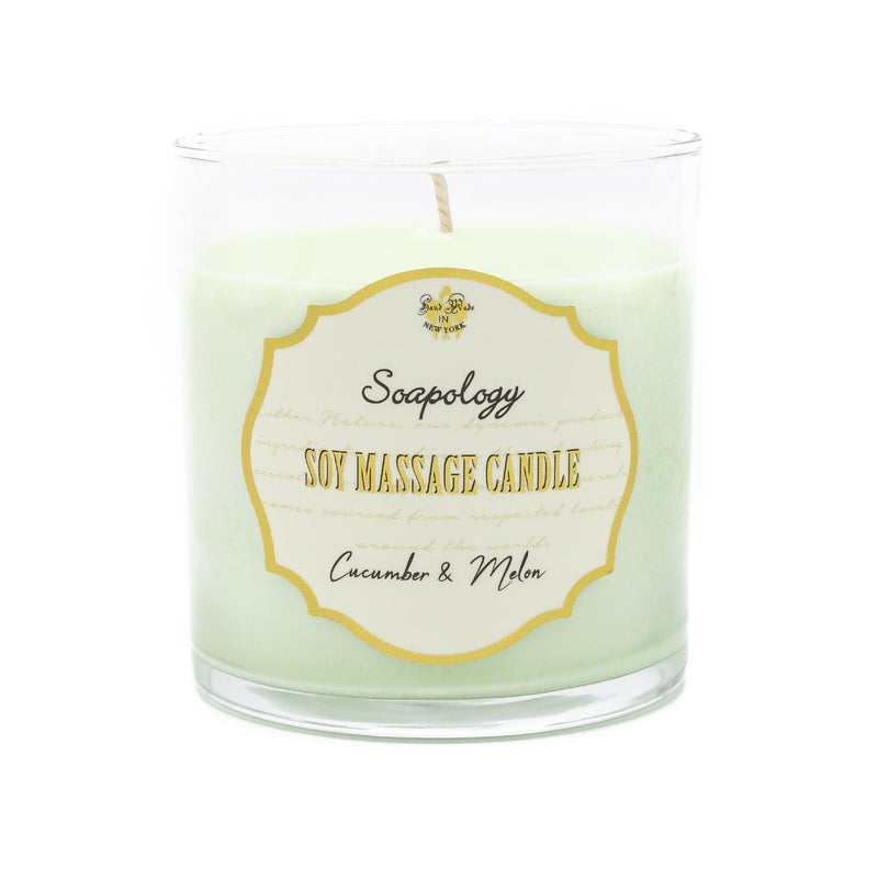 Soy Massage Candle <br> Cucumber Melon - SoapologyNYC CANDLES